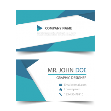 Header vector modern email. Business card template design