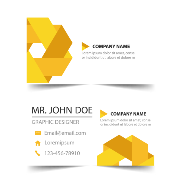 @ vector business card. Corporate template for free