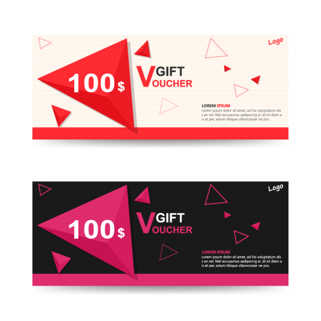 Header vector graphic designer. Colorful gift voucher template