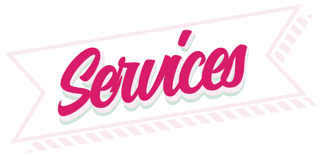 Header vector pink. Services impressed domestic washing