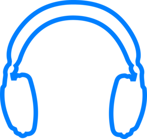 Headphone clipart blue headphone. Headphones without background clip