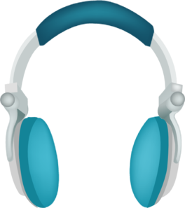 Headphone clipart blue headphone. Headphones clip art at
