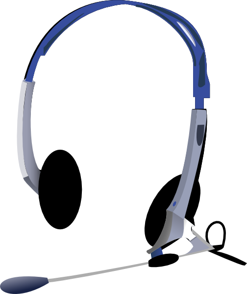 Headphone clipart mic clipart. Headphones clip art at