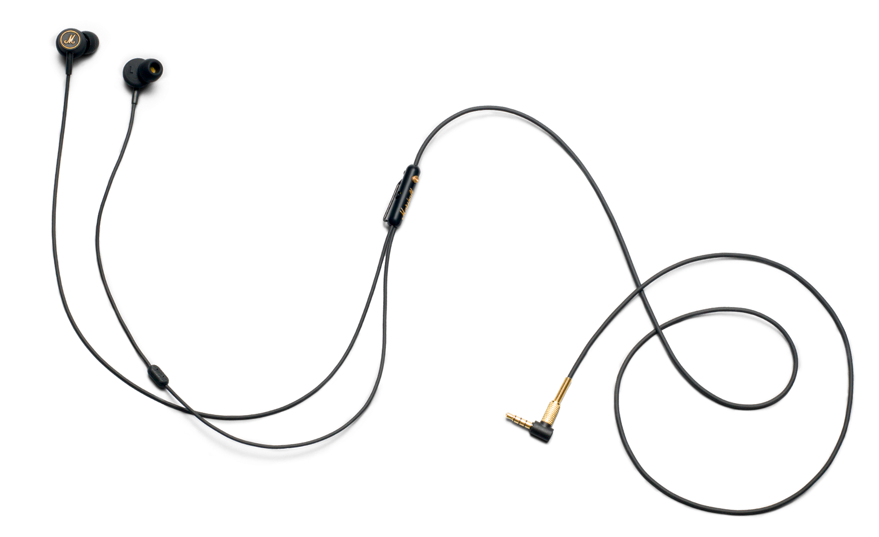 Transparent wires headset. Mode eq earphone with
