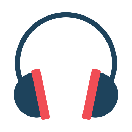 Headphone icon png. Flat transparent svg vector