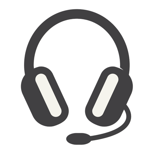 Headphone icon png. Flat with thick stroke