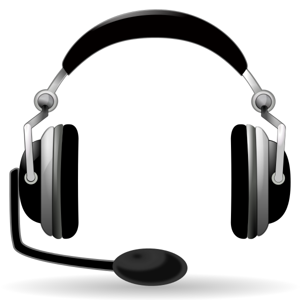 Headphone transparent animated. Gaming library headset