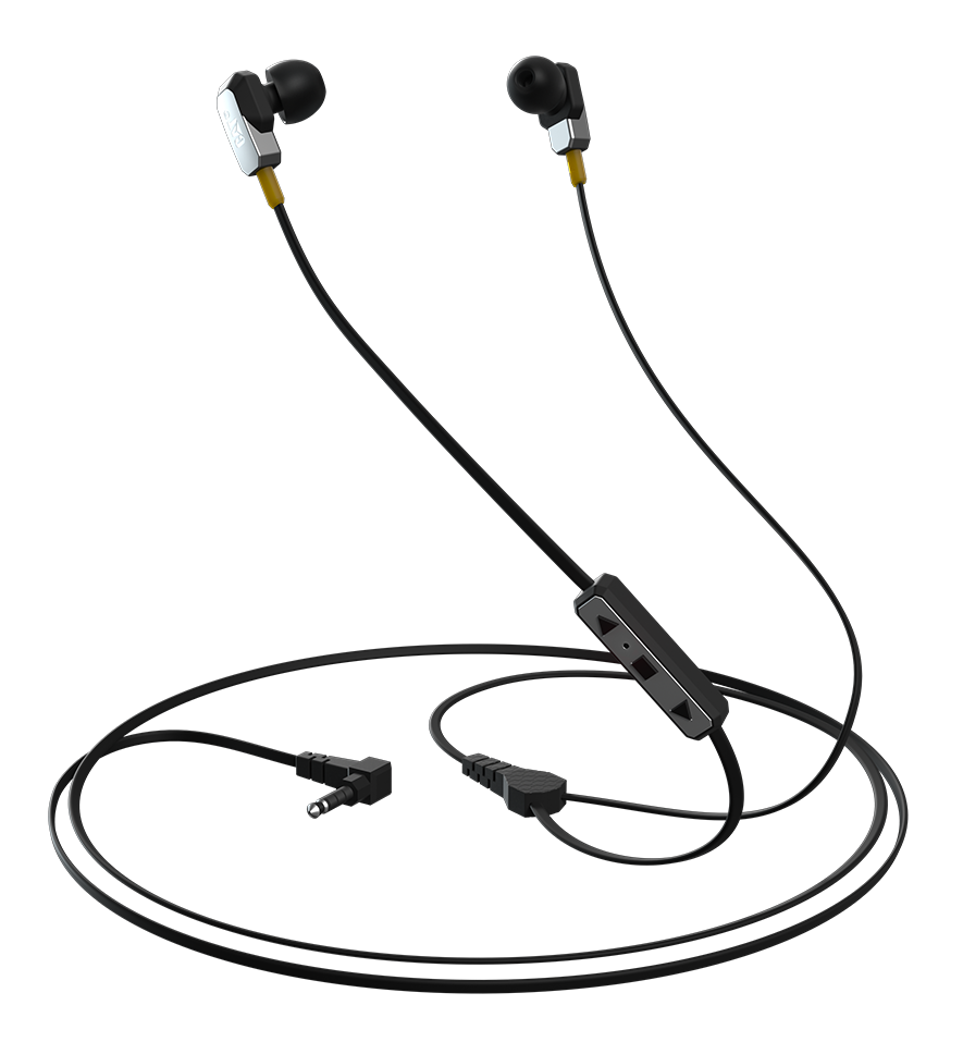 Drawing headphones earbud. Active urban rugged earphones