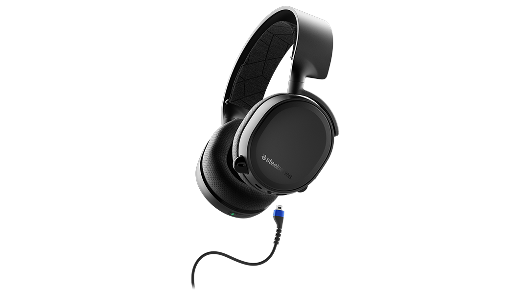 Transparent wires headset. Arctis bluetooth gaming steelseries