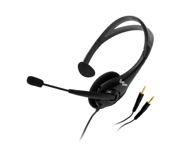 Drawing headphones mic. Noise cancelling headset p