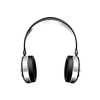 Headphone transparent radio. Download music free png