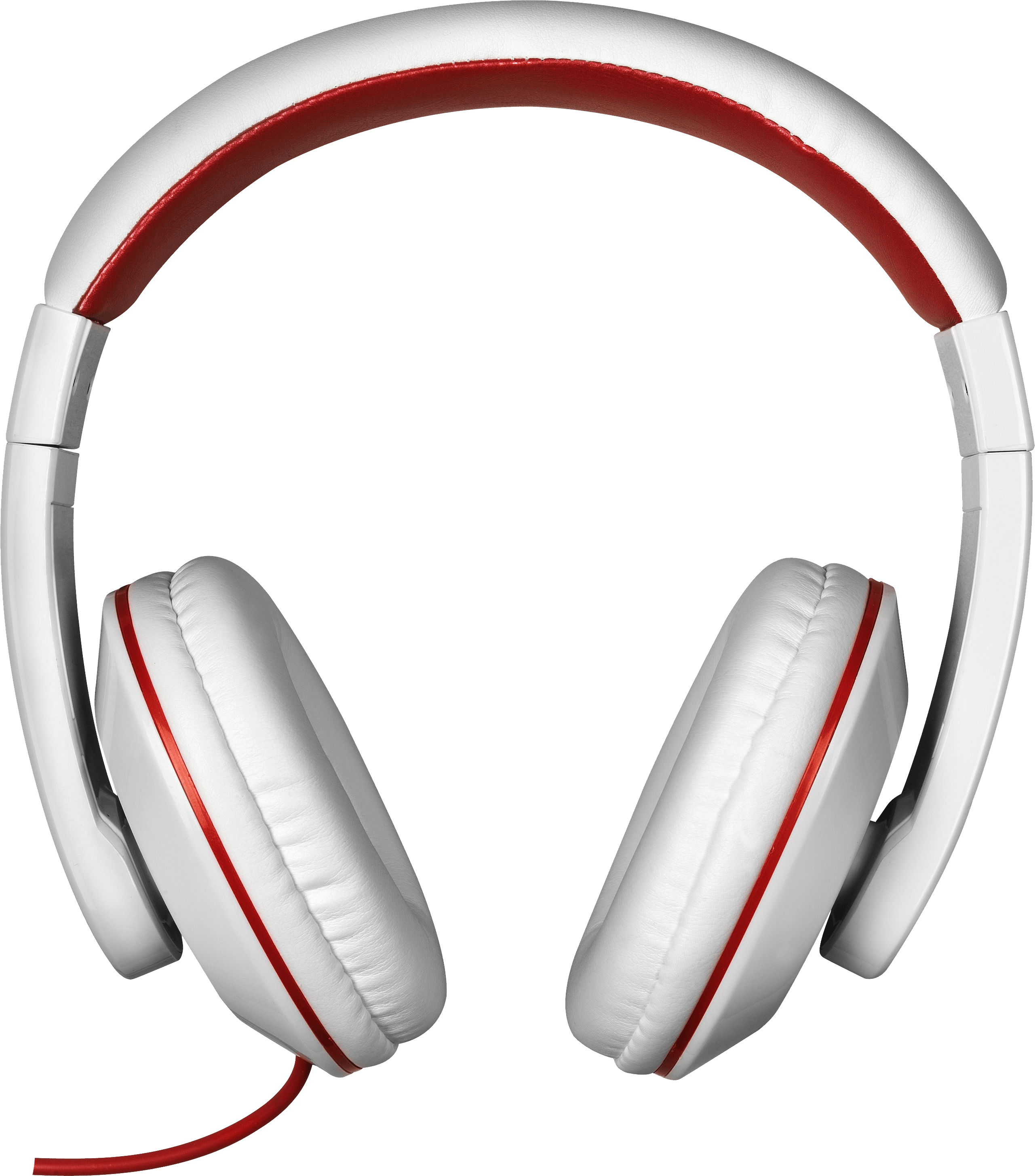 Headphones clipart png. Red white transparent stickpng