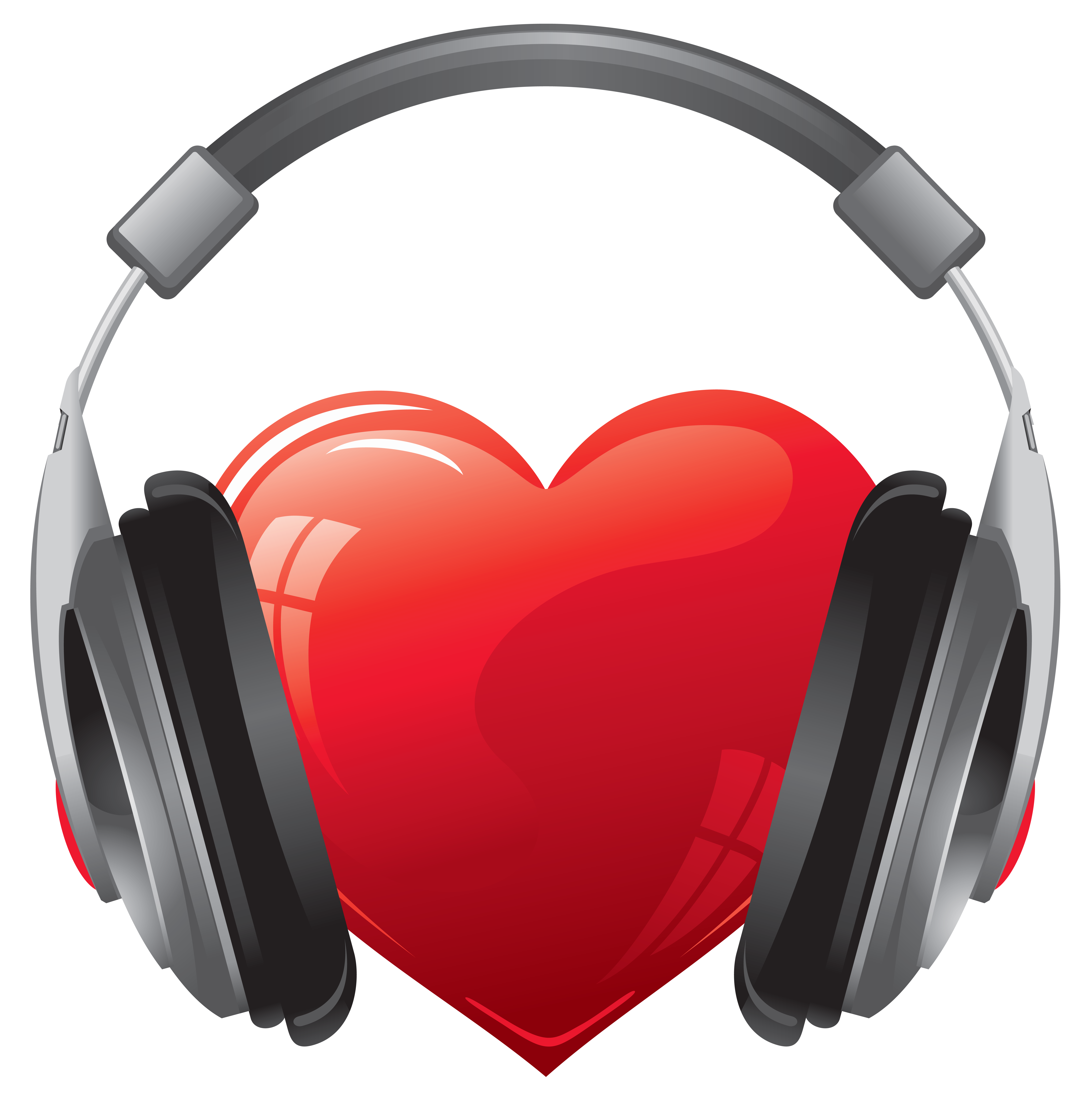 Headphones clipart png. Heart with image gallery