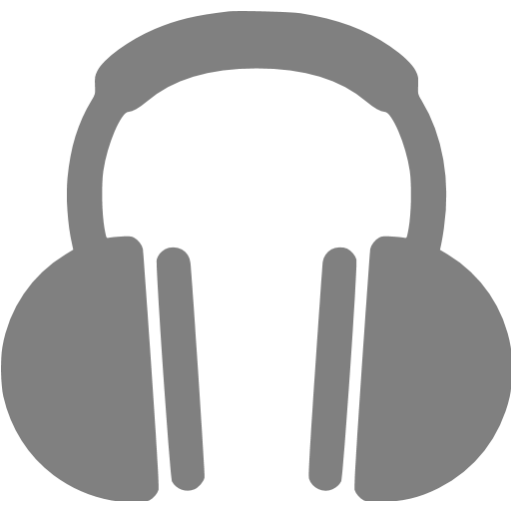 Headphones icon png. Gray free icons