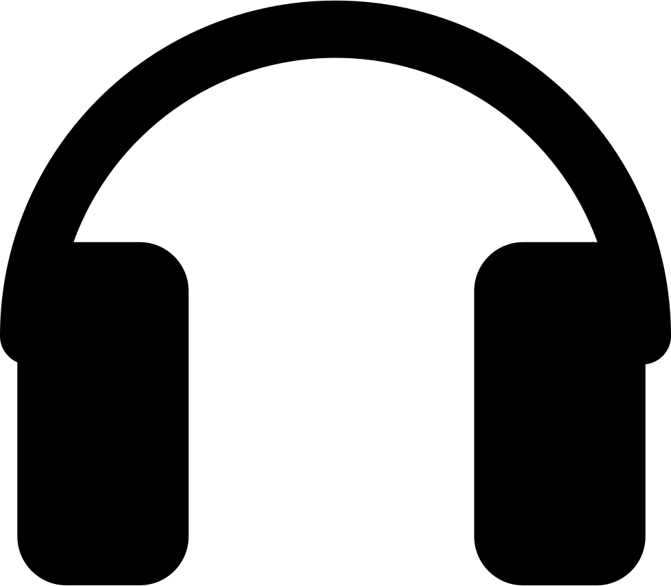 Rectangular svg icon free. Headphones silhouette png image black and white library