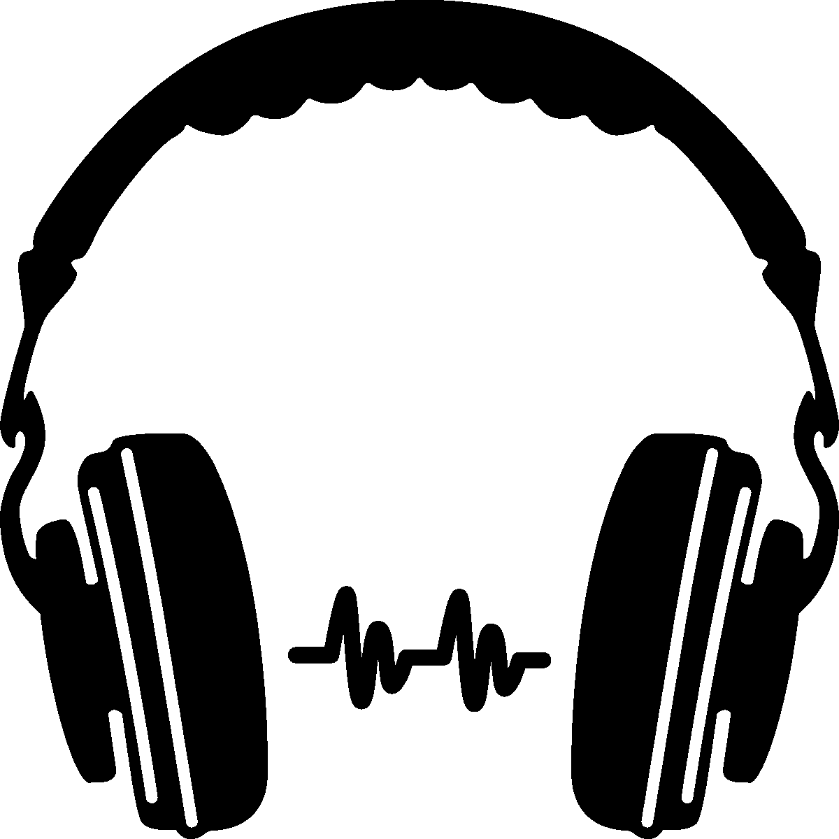 Headphone at getdrawings com. Headphones silhouette png clip art transparent stock