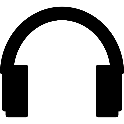 Free music icons icon. Headphones silhouette png png black and white download