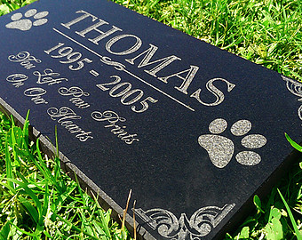 Headstone clipart dog memorial. Pet grave markers etsy