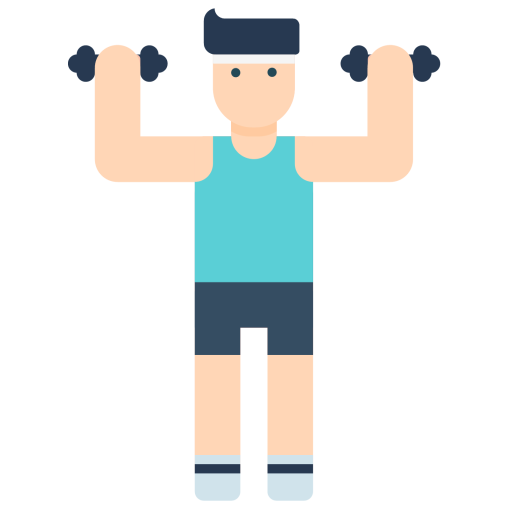 Health and fitness icon png. Gym exercise boy body