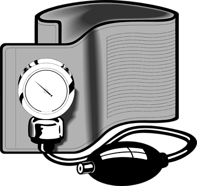 Free images blood pressure. Cuff clip clip art black and white library
