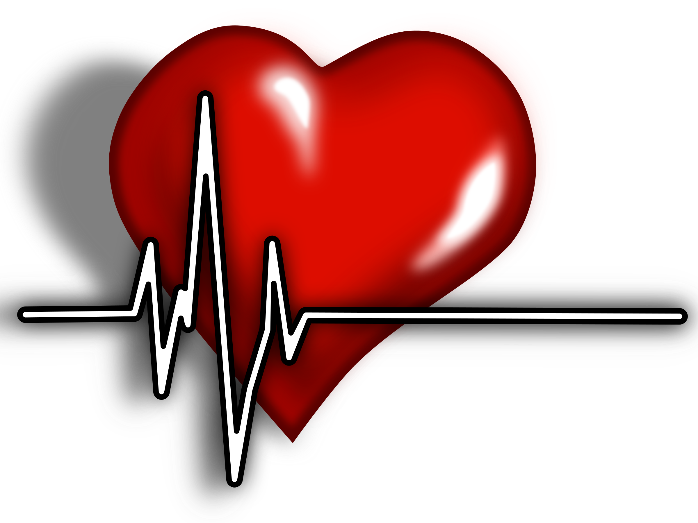 Health clipart medical mission. Heart ecg logo big
