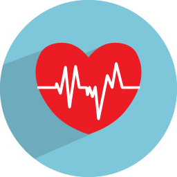 Medical transparent heart. Beat icon health iconset