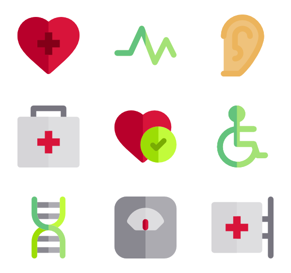 Health icons png. Nursing icon packs