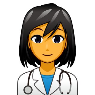 Health transparent worker. Female emojidex custom emoji