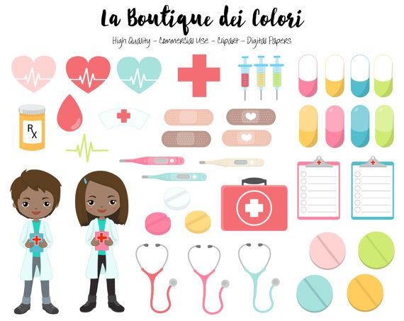 Healthcare clipart medical specialty. Doctor cute digital graphics