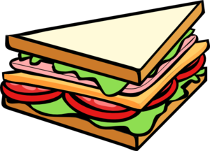 Sandwich clipart line drawing. Healthy