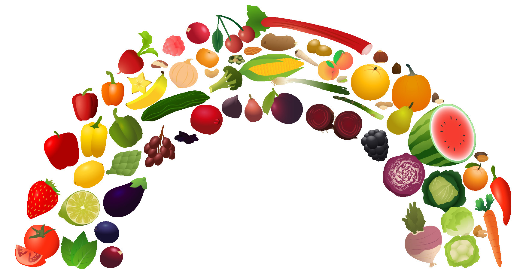 Healthy clipart nutrition. View rainbow png free