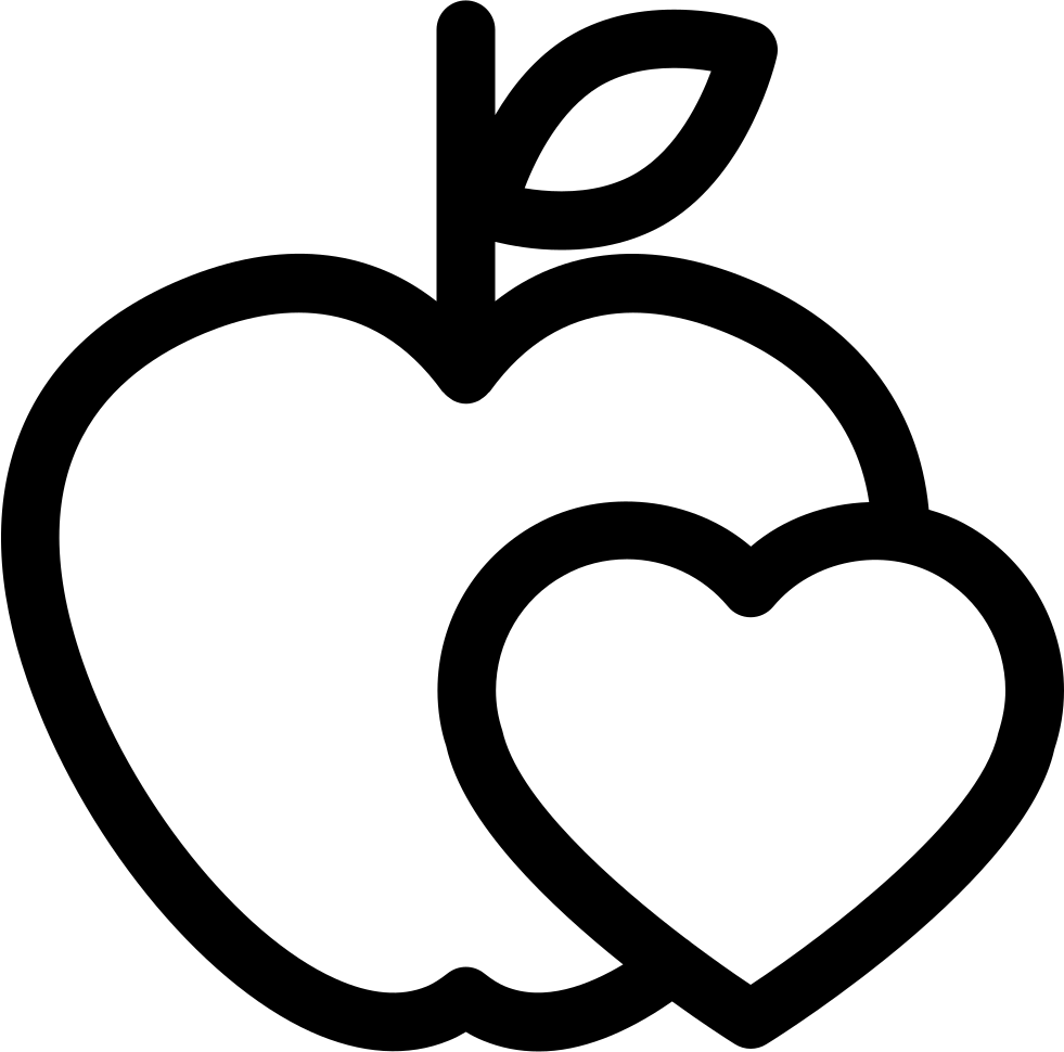 Healthy food icon png. For heart health care