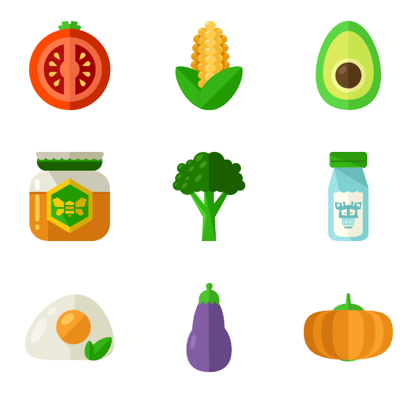Healthy food png. Icon packs vector
