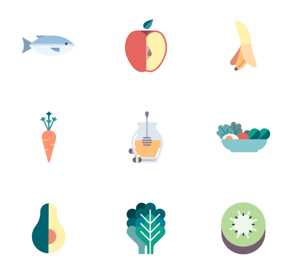 Recipe vector food illustration. Healthy lunch icons free