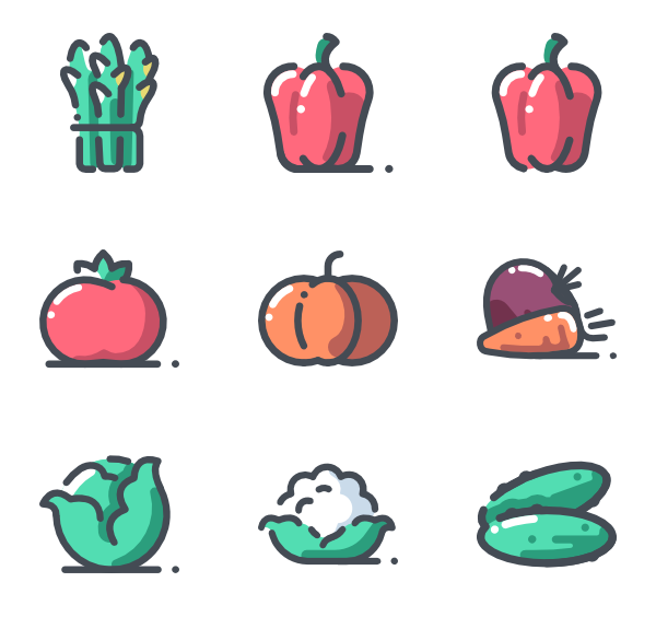 Produce vector illustration. Healthy icon packs