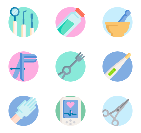 Vector stock.com icon. Medical icons free instruments