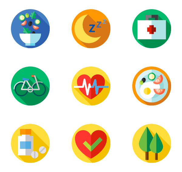 Healthy vector lifestyle icon. Packs svg psd