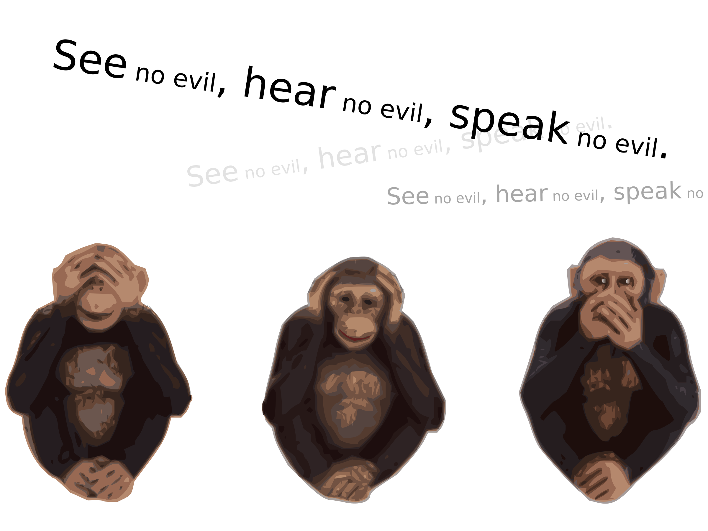 Hear no evil png. See speak icons free