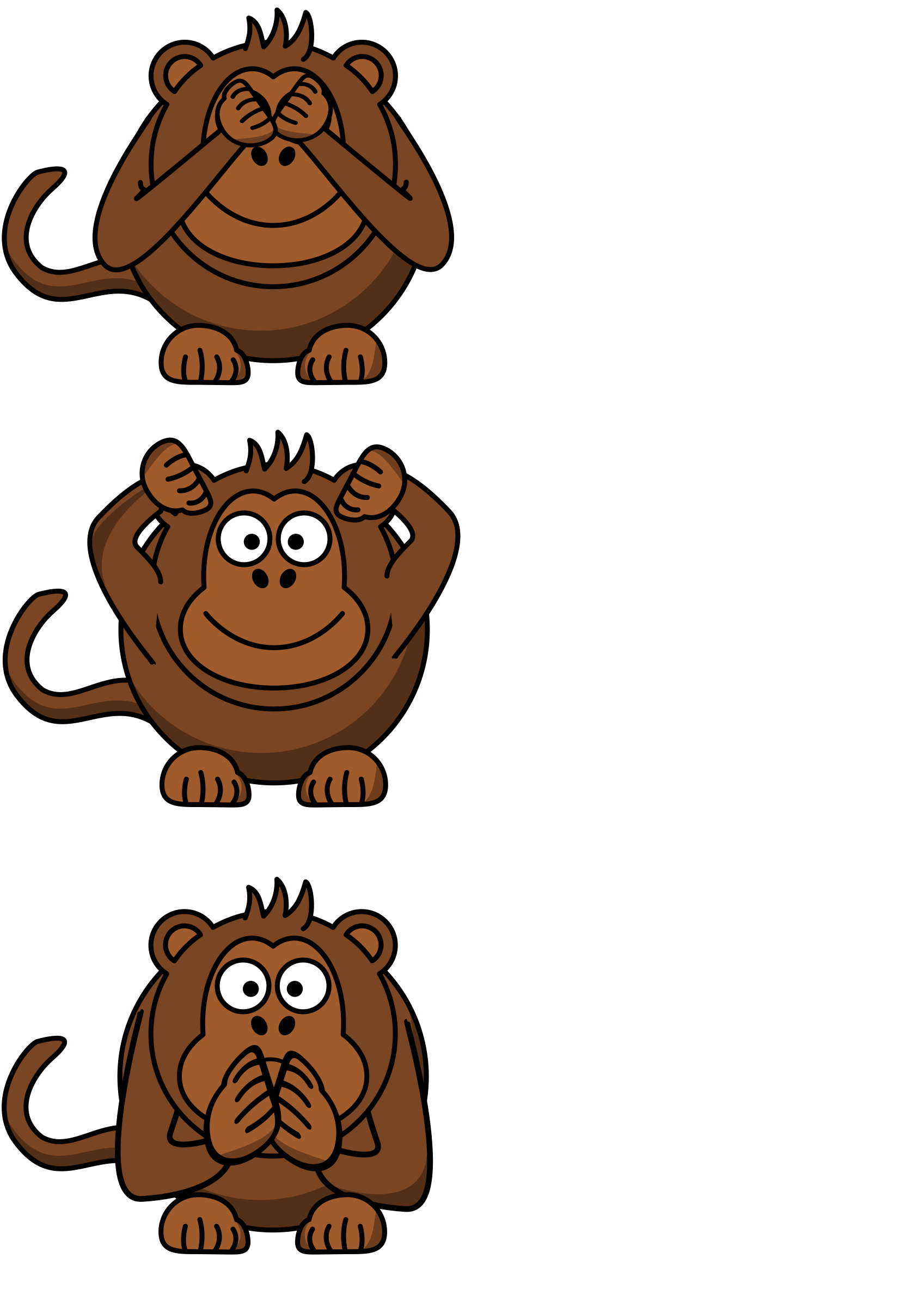 Hear no evil png. See speak monkey icons