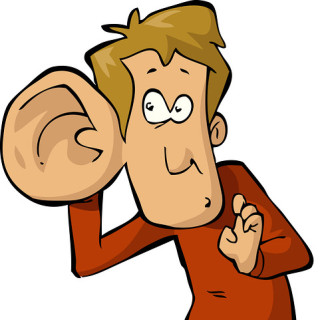Hearing clipart large ear. Big listening plannersweb cartoon