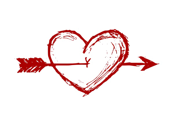 Free image vector clipart. Heart and arrow png vector free library