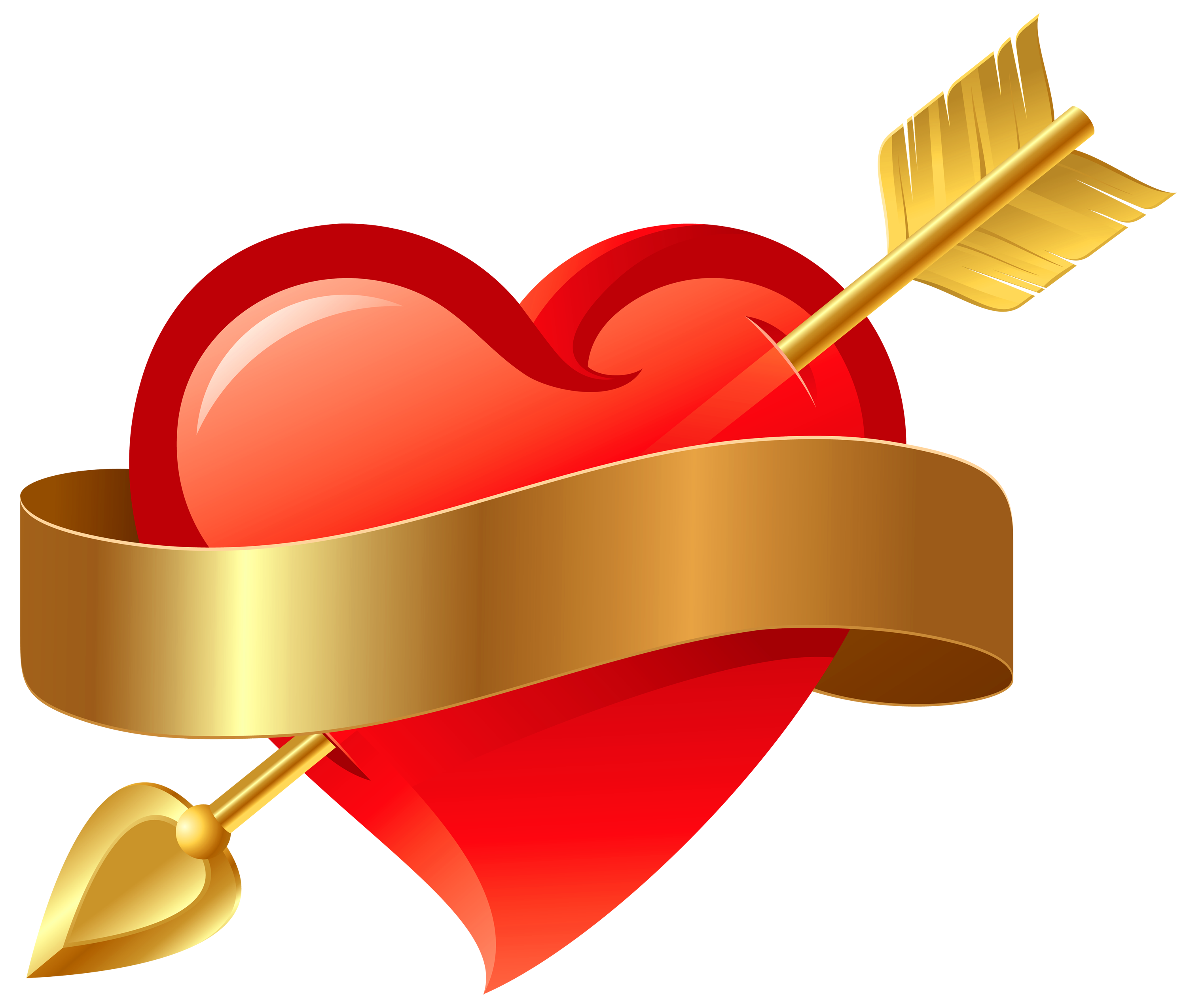 Arrow with heart png. Transparent