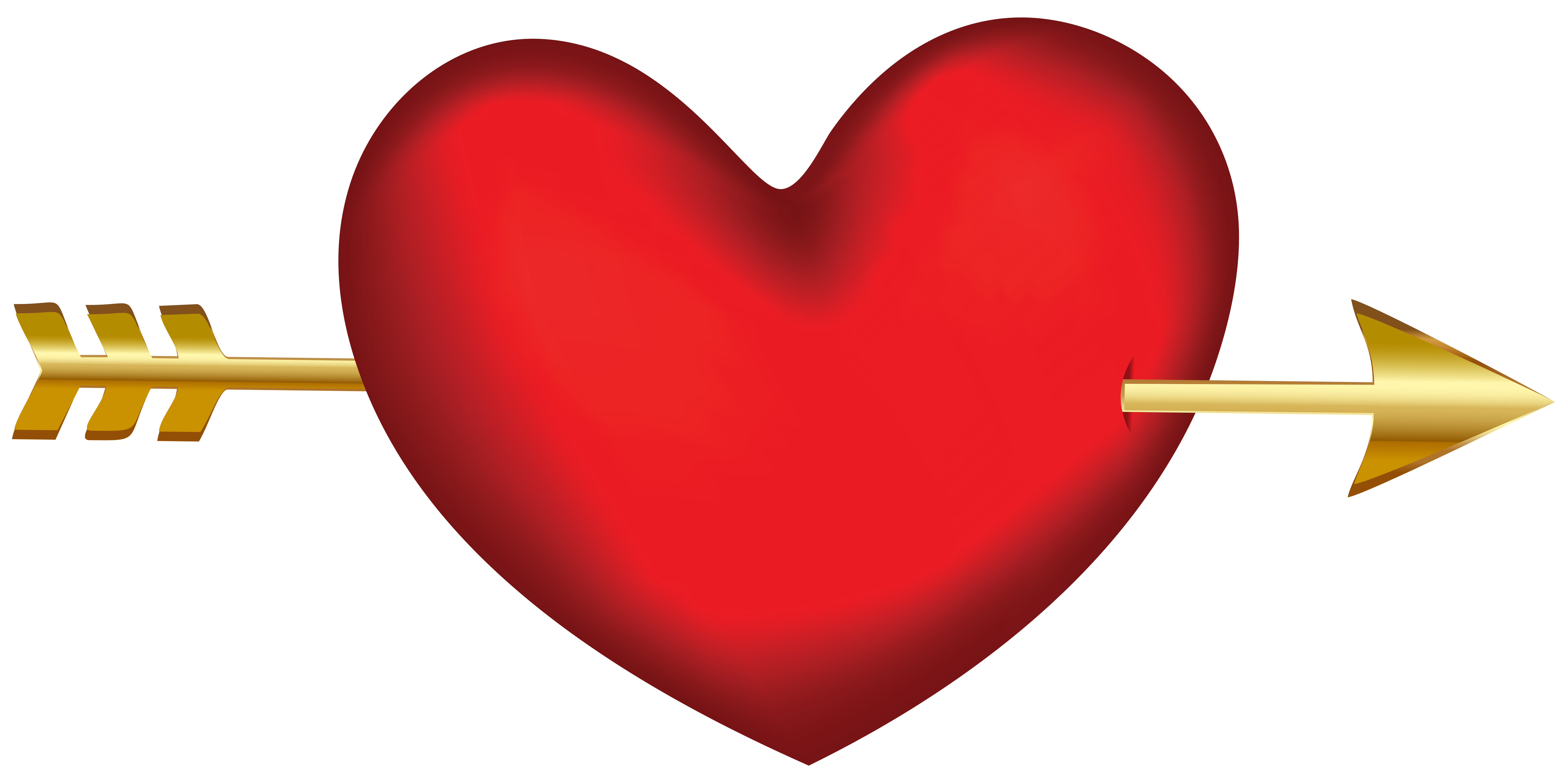 Arrow with heart png. Transparent clip art image