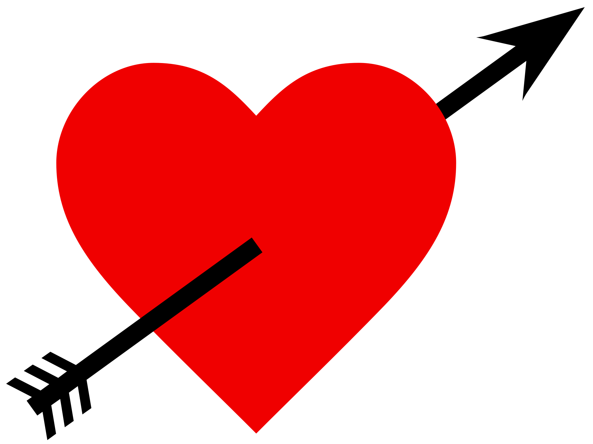Image pngpix . Heart and arrow png image black and white download