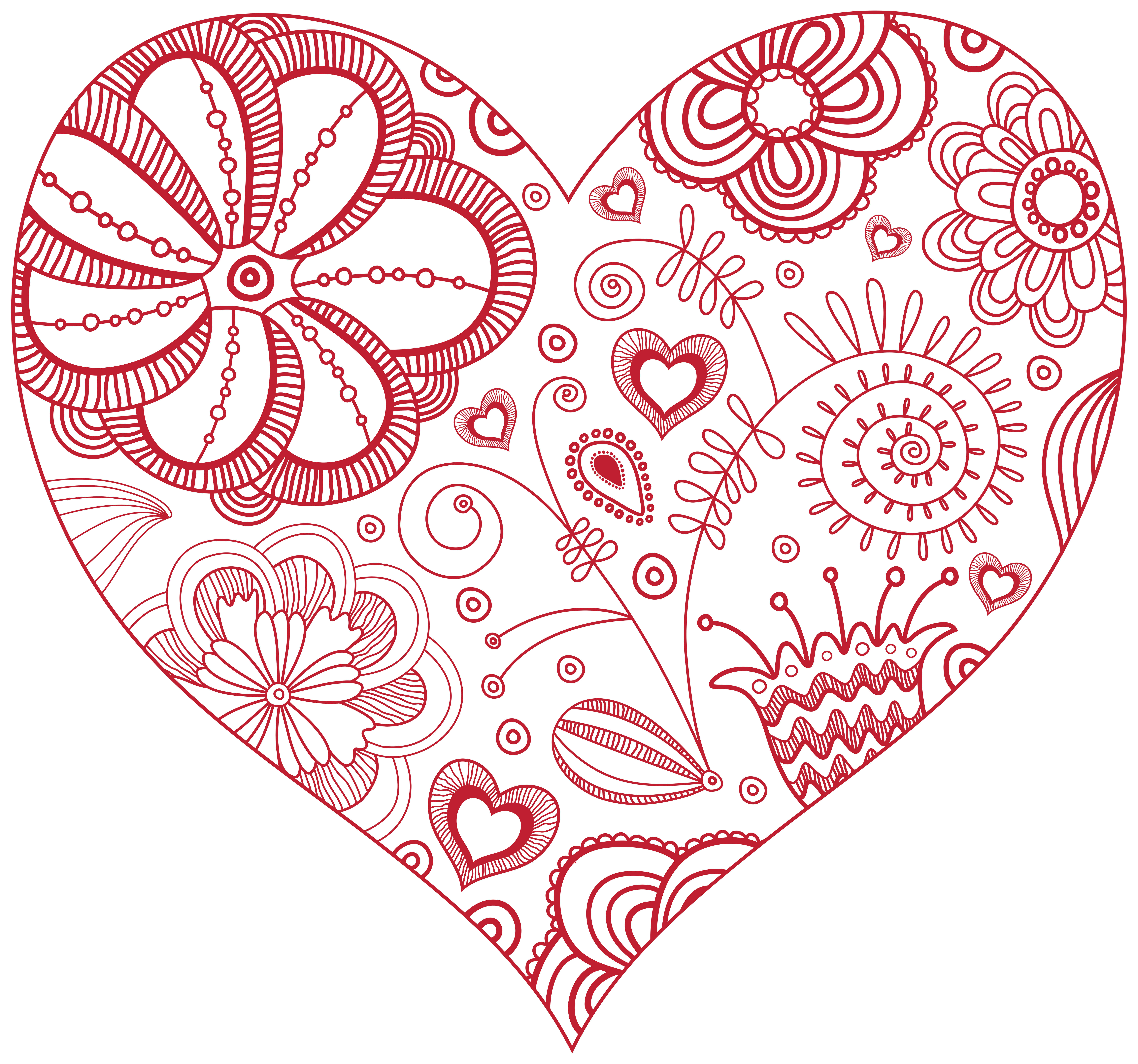 Heart art png. Decorative red clip image