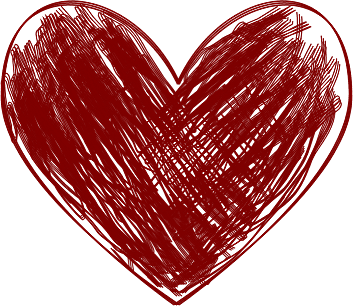 Painted heart png. Art image