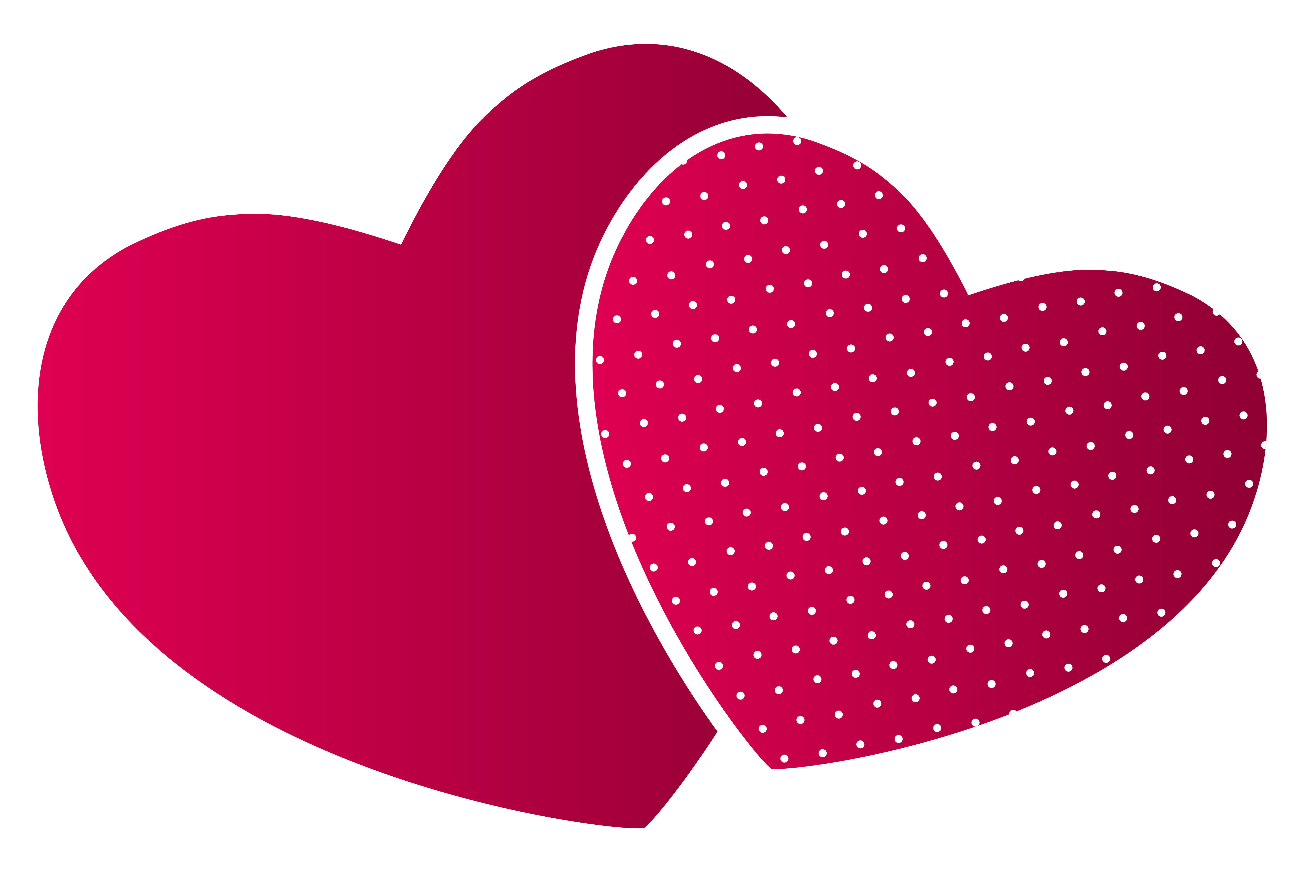 Heart art png. Double hearts clipart best