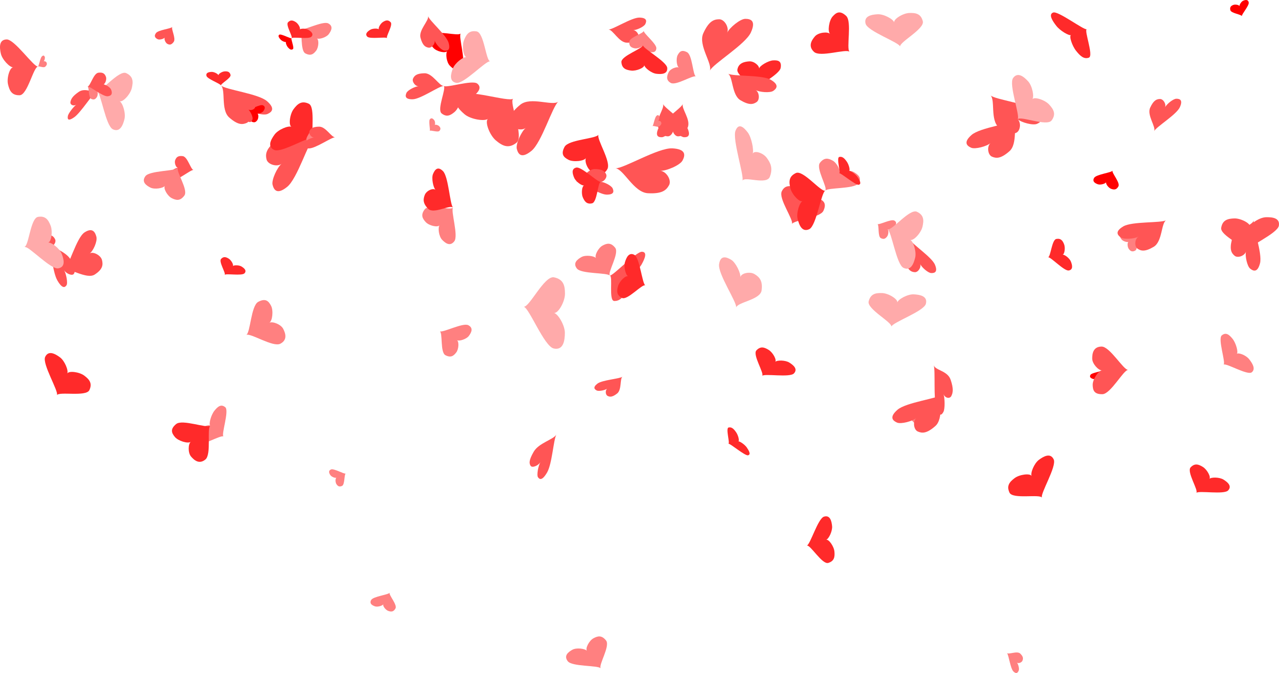 Hearts background png. Heart confetti transparent