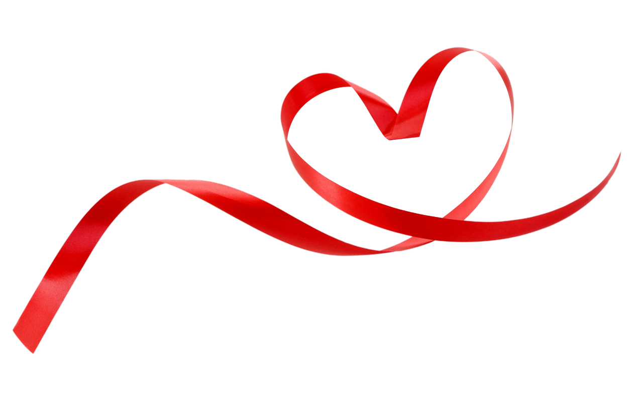 Heart background png. Ribbon style