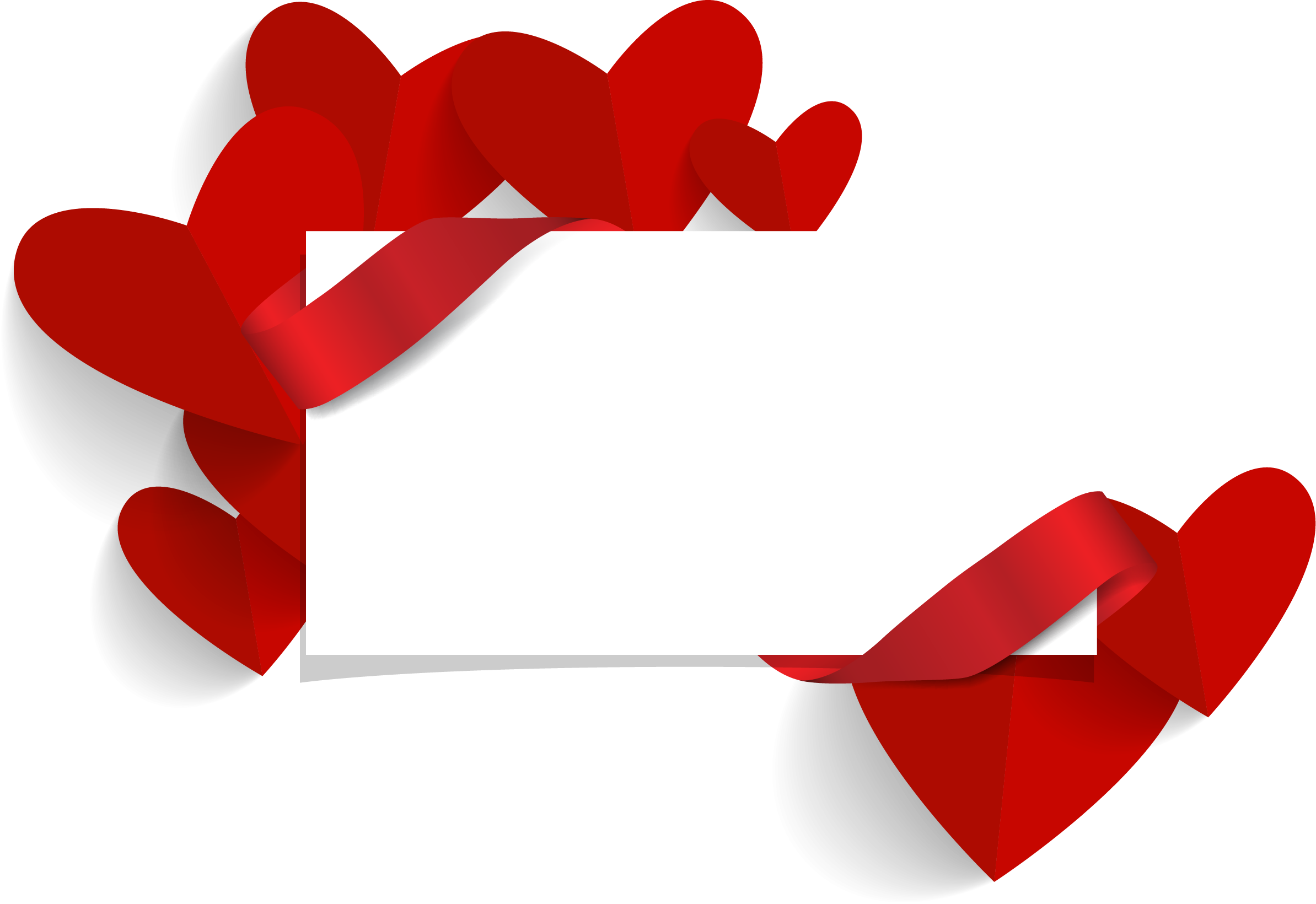 Heart banner png. Valentines day wedding invitation